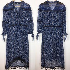 Elie Tahari 100% Silk Dress Blue